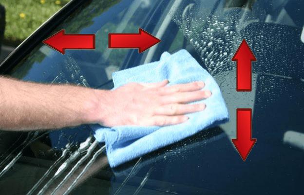 como limpar vidro automotivo