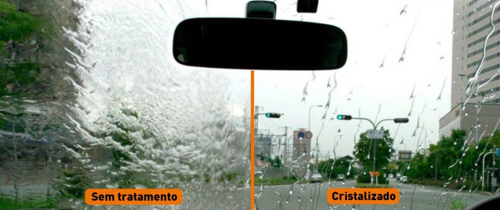 limpar vidro automotivo - cristalização