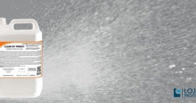 pulverização do clean by peroxy