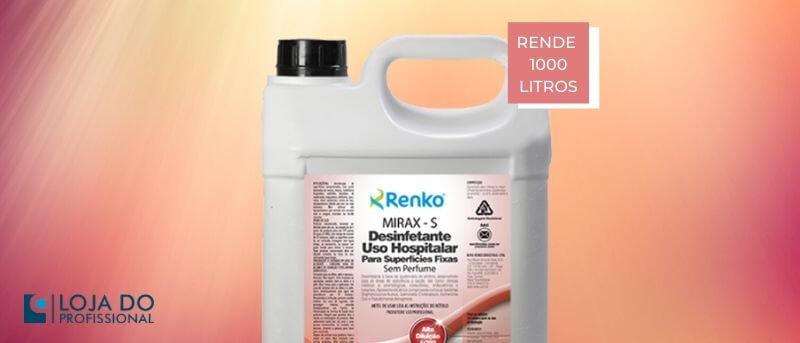 mirax s desinfetante de alta diluição