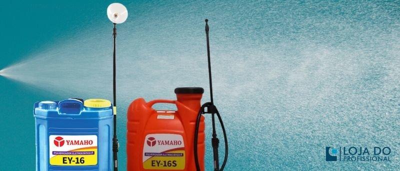 pulverização pulverizador eletrostatico yamaho