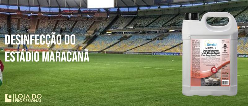 Desinfecção do Estádio Maracanã