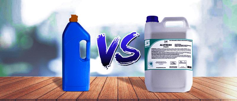 Qual a diferença entre produtos de limpeza doméstico e profissional?